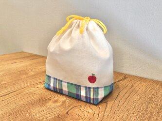 お弁当袋 巾着袋 トラベル 手刺繍の画像