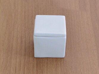 白磁 陶箱薬味入れの画像