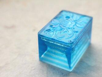 【再販】 ガラス製 書道具 水差し 「水滴石穿」の画像