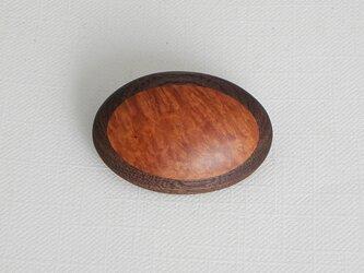 ブローチ -ブライヤー・ウォルナット楕円-の画像