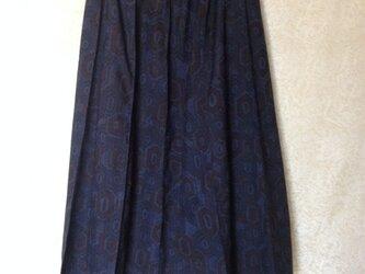 正絹着物地ピンタックスカートの画像