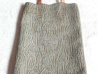 """【秋の新作】""""森シリーズ""""手縫い薄まち手提げバッグの画像"""