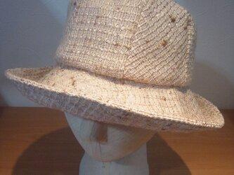 ウールシルクの帽子の画像