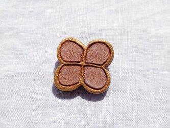 花びら1(ピンク) 陶土ブローチの画像