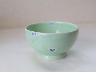 水玉パンダ茶碗ーキミドリの画像