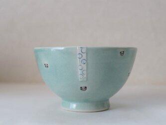 水玉パンダ茶碗ー水色の画像
