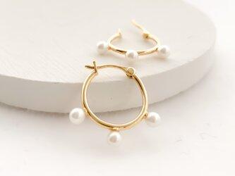 pearl hoop pierces 0529の画像