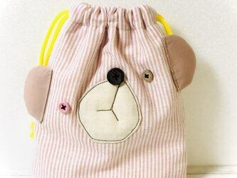 おとぼけクマ コップ入れ☆ピンクの画像