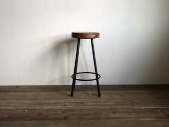 数量限定 WS-H600 椅子 イス ハイスツール アイアン チェアー 無垢材 カウンターチェアー スツール オーダーメイドの画像