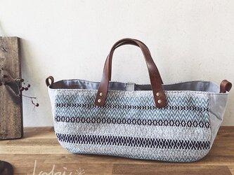 [H様専用ご注文品]手織りboat bag *他の方はご購入できません。の画像
