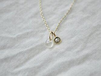 Little treasures diamonds necklace / Sweet peaの画像