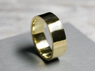 鏡面 ブラスフラットリング 6.0mm幅 ミラー 真鍮 BRASS RING 指輪 シンプル アクセサリー 217の画像