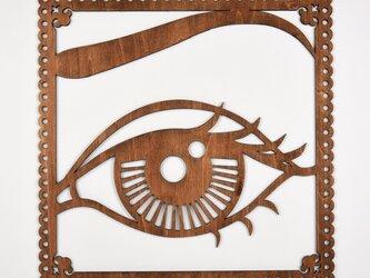 ビッグウッドフレーム「ピュアアイ」(木の壁飾り)の画像