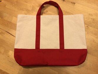 手提げバッグ(赤・トート)の画像