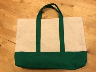 手提げバッグ(緑・トート)の画像