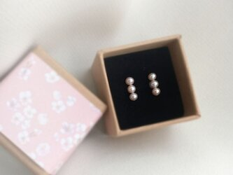 SIMPLE PINK PEARLS LINE PIERCEの画像