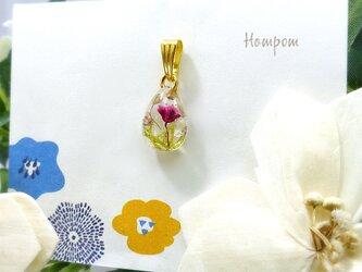19n012 小さなお花のペンダントトップ ホムポムの画像