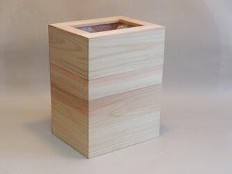 「桧」 ごみ箱 A(M) /EA1Mu[注文制作]の画像