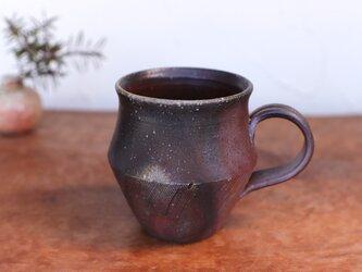 備前焼 コーヒーカップ(野草) c9-021の画像
