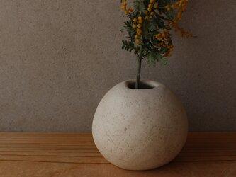 揺ら 花器 白 顔料黒 に 地シリーズの画像