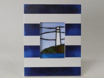 ステンドグラスパネル  灯台 Bの画像