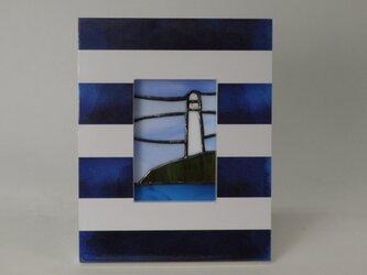ステンドグラスパネル  灯台 Aの画像