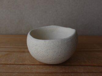 植木鉢 おちょこサイズ(地器chiki)白 陶土の画像