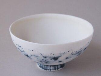 磁器茶碗 feeling blue (L)の画像