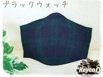 (LL)ブラックウォッチ◆ワイヤー入立体マスクの画像