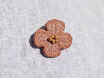 花摘み4(ピンク) 陶土ブローチの画像