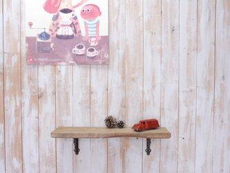 アンティーク加工の棚板 55㎝ (ライトブラウン)の画像