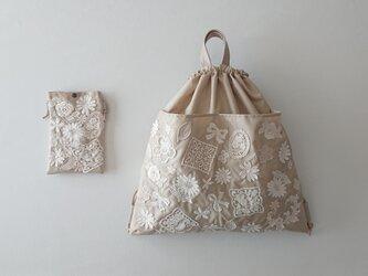 motif lace knapsack & pochetteの画像