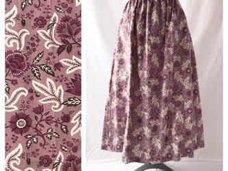 【ゆったりなのにすっきり】85cm:レクタングルスカート(ヨーロピアン:パープル)の画像