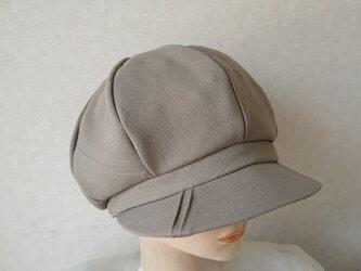 魅せる帽子☆ふんわり♪ステッチ&ピンタックのキャスケット~モスグリーンの画像
