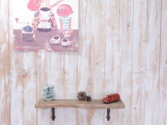 アンティーク加工の棚板 55㎝ (ブラウン)の画像