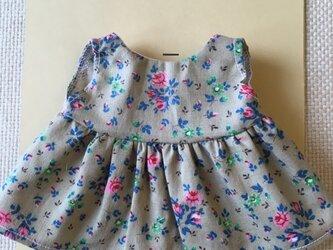 sokko's Dress 黄土色に小花柄のワンピースの画像