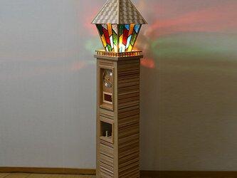 街を照らす時計塔 時計台 振り子時計の画像