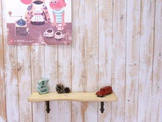 アンティーク加工の棚板 55㎝ (クリームイエロー))の画像
