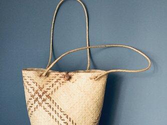 手編みA-7 籠バック トートバックの画像