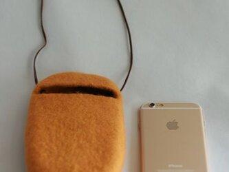 iPhoneポシェット cocoon(バタースコッチ)Lサイズの画像