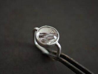 針水晶 □ リングの画像