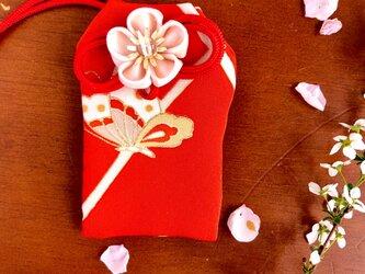 元巫女の花のお守り袋(蝶)の画像