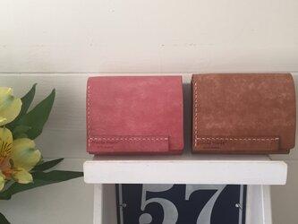 送料無料 イタリアレザー 小さな二つ折りお財布 bellyの画像