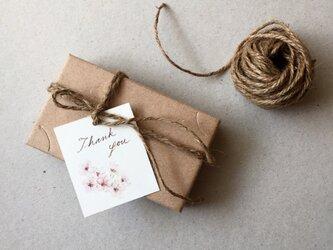 小さな桜のメッセージカード タグ 40枚の画像
