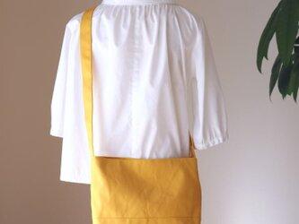 ハチミツ 倉敷産帆布使用ショルダーM【受注製作】の画像