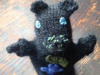 【北欧風】おしゃれな蝶ネクタイのクマさんの画像