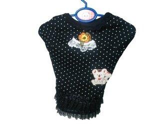 胸36♡春夏用♪黒のレースオリジナルワンピース♪わんちゃん洋服の画像