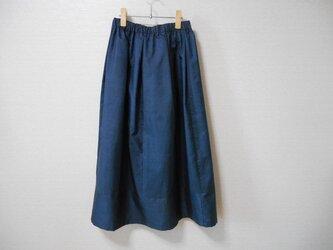 藍大島紬リメイクスカートの画像