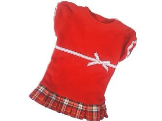 ●胸44●チェックのスカート◇手作りわんちゃん服 人気の秋冬の画像