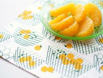 ハンカチ・お弁当包み「バスケット」黄色の画像